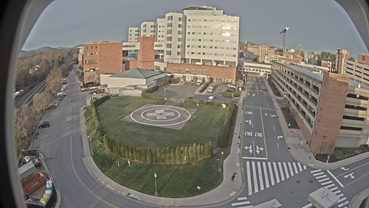 The foreground shows the area at the beginning of 2016 before ground was broken for the University Hospital Expansion. Image courtesy of UVA Facilities Planning and Construction.