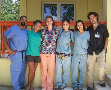 Nursing students at a site in Honduras.