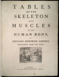 Albinus, Tables of the Skeleton and Muscles…, title page