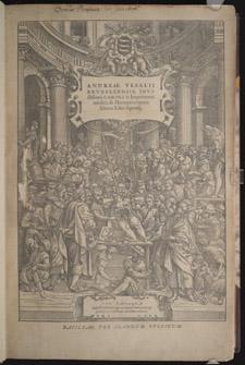 Vesalius,…de humani corporis fabrica libri septem, title page