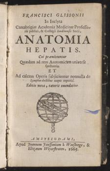 Glisson,…Anatomia hepatica…, title page
