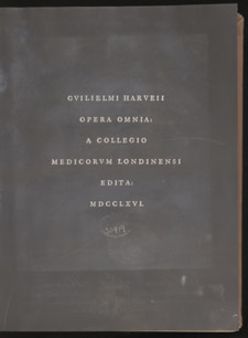 Harvey, Opera omnia…, title page
