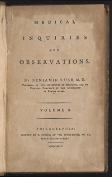 Rush, Medical Inquiries and Observations, title page