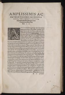 Aëtius, Aetii medici graeci contractae…, dedication