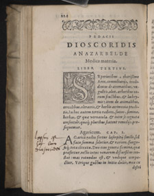 Dioscorides, De materia medica libri sex, p 224