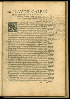 Galen, …De naturalibus facultatibus libri tres, AAtio
