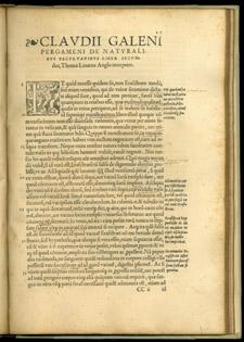 Galen, …De naturalibus facultatibus libri tres, CCii