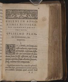 Galen, In aphorismos Hippocratis commentarii septem…, p 9
