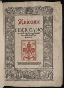 Avicenna, Liber canonis medicine, title page