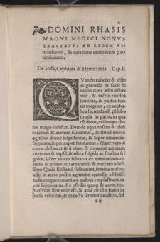 Razi, Rhasis philosophi tractatus nonus ad regem Almansorem…, p 2