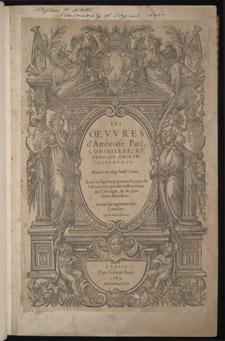 Paré, Les oeuvres…, title page