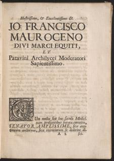 Malpighi, Consultationum medicinalium…, A2