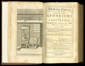 Santorio, Medicina statica…, frontispiece and title page