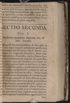 Sydenham, Observationes medicae…, p 127