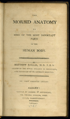 Baillie, The Morbid Anatomy…, title page