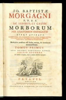 Morgagni, De sedibus…, title page