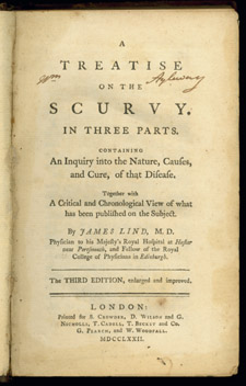 Lind, A Treatise on the Scurvy, title page