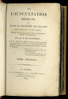 Laennec, De l'auscultation médiate…, title page