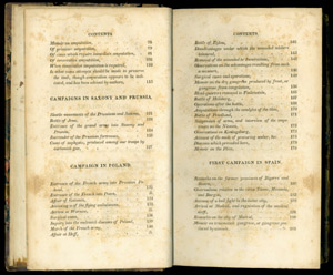 Larrey, Memoirs of Military Surgery…, contents pp 2-3