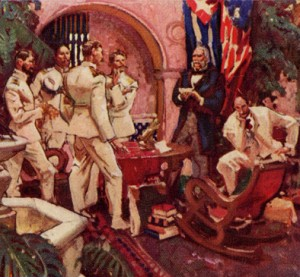 Conquerors of Yellow Fever, a painting by Dean Cornwell, Claude Moore Health Sciences Library, University of Virginia