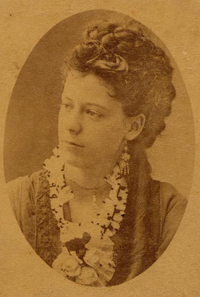 Emilie Lawrence Reed [wife of Walter Reed], circa 1875. Philip S. Hench Walter Reed Yellow Fever Collection 1806-1995, Box-folder 94:2. Historical Collections, Claude Moore Health Sciences Library, University of Virginia.