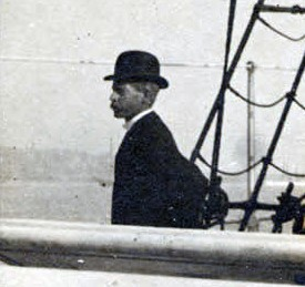 Walter Reed Sailing to Cuba, circa 1900. . Philip S. Hench Walter Reed Yellow Fever Collection 1806-1995, Box-folder 87:39, Historical Collections, Claude Moore Health Sciences Library, University of Virginia.