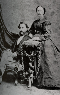 Carlos J. Finlay and his wife, Adele (Shine) Finlay, in the late 1860s. From: Finlay, Carlos Eduardo. Carlos Finlay and Yellow Fever. New York: Oxford University Press, 1940. p. 19.