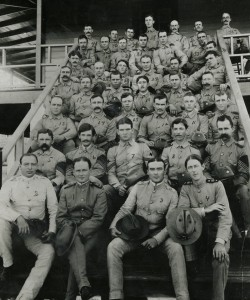 Personnel of the Camp Columbia Hospital, September 1900.  Much of the personnel shown here assisted in the Yellow Fever Commission experiments.  Philip S. Hench Walter Reed Yellow Fever Collection 1806-1995, Historical Collections. Box-folder 76:93.  Claude Moore Health Sciences Library, University of Virginia.