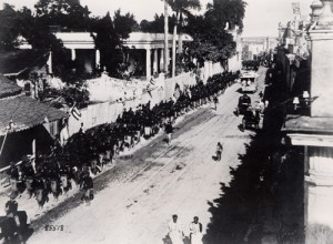 U.S. troops entering Havana, Cuba on January 1, 1899. Photo courtesy of the U.S. Army Signal Corps.